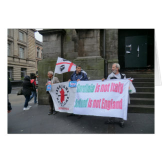 Sardinian Independence Campaigners in Scotland Greeting Card