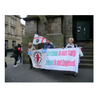 Sardinian Independence Campaigners in Scotland Post Cards