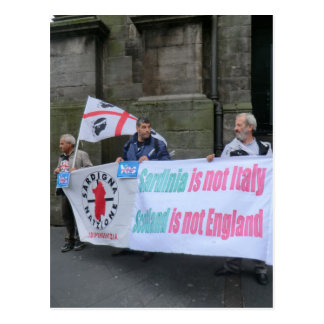 Sardinian Independence Campaigners in Scotland Post Card