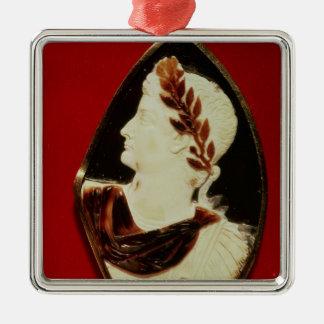 Sardonyx Cameo bearing the profile of Tiberius Metal Ornament