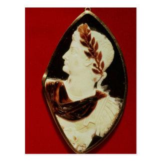 Sardonyx Cameo bearing the profile of Tiberius Postcard