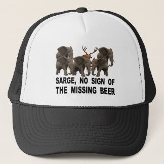 Sarge, No Sign Of The Missing Beer Trucker Hat