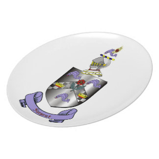 Sargent Coat of Arms Melamine Plate