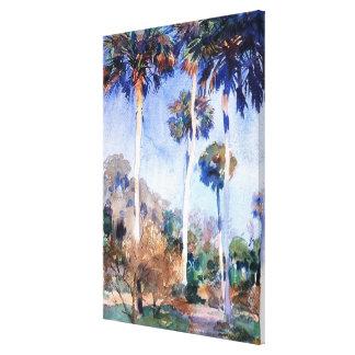 Sargent - Palms, a John Singer Sargent painting Canvas Print