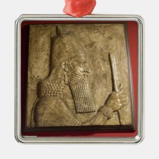 Sargon II-  Egyptian Museum.jpg Metal Ornament