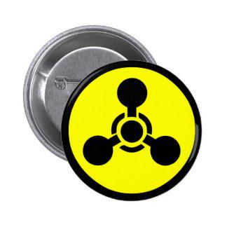 Sarin Gas Symbol 6 Cm Round Badge