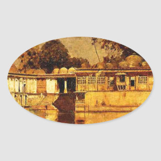 Sarkeh, Ahmedabad, Indi by Edwin Lord Weeks Oval Sticker