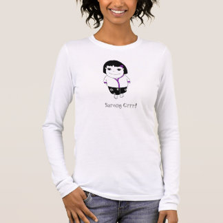 Sarong Girl - Purple (clear back) Long Sleeve T-Shirt