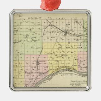 Sarpy County, Nebraska Metal Ornament