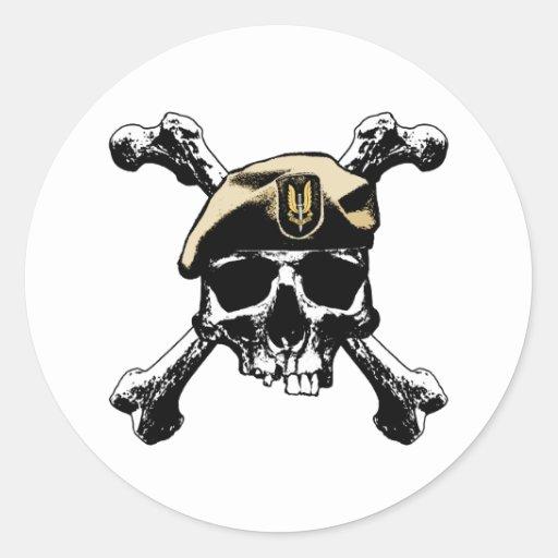 SAS Skull and Bones Sticker