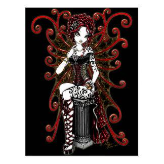 Sasha Gothic Couture Valentine Fairy Postcard