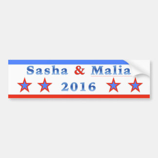 Sasha & Malia for President 2016! Bumper Sticker