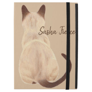 "Sasha Siamese Cat Mom Kitty Looking Away Drawing iPad Pro 12.9"" Case"