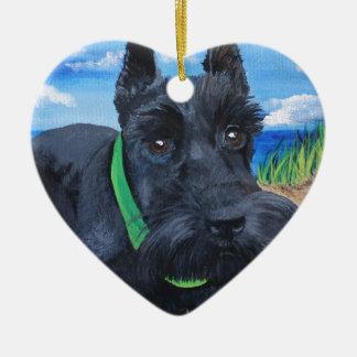 Sasha the Black Schnauzer Ceramic Ornament