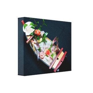 Sashimi Boat, Japanese Cuisine Canvas Print