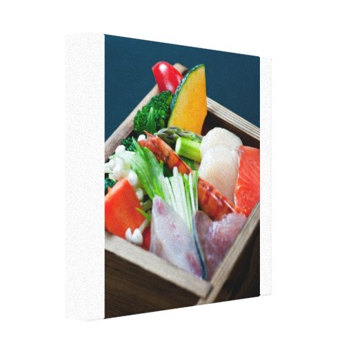 Sashimi, Japanese Cuisine Stretched Canvas Print