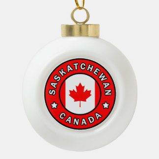 Saskatchewan Canada Ceramic Ball Christmas Ornament