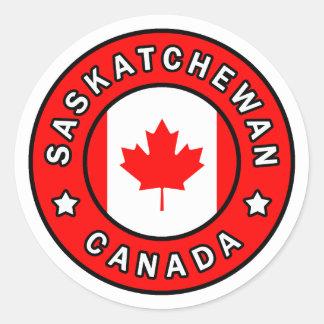 Saskatchewan Canada Classic Round Sticker