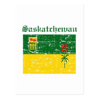 Saskatchewan Canada Flag design Postcard