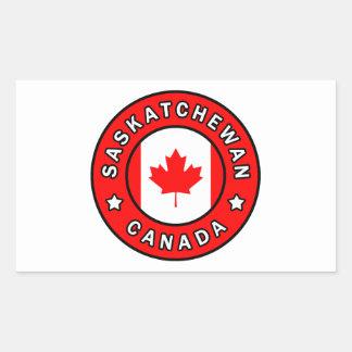 Saskatchewan Canada Rectangular Sticker