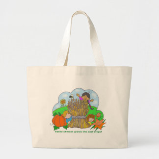 Saskatchewan Grows Large Tote Bag