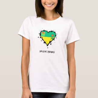 Saskatchewan Splatter Heart T-Shirt