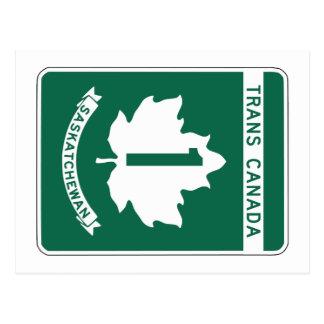 Saskatchewan, Trans-Canada Highway Sign Postcard