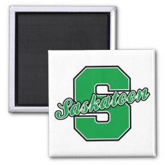 Saskatoon Letter Square Magnet