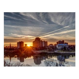 Saskatoon sunset postcard