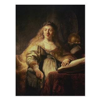 Saskia as Minerva Postcard