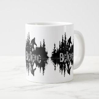 Sasquatch, Big Foot Lake Reflection Large Coffee Mug