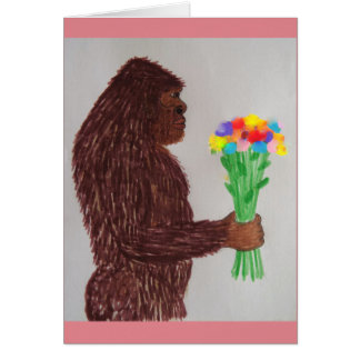 Sasquatch flowers love card
