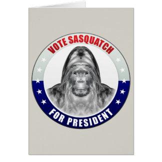 Sasquatch For President Cards
