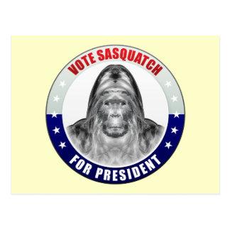 Sasquatch For President Postcard