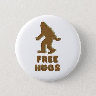 SASQUATCH - FREE HUGS 6 CM ROUND BADGE