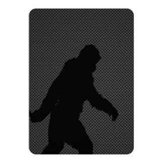 Sasquatch Gone Squatchin on Carbon Fiber Decor 11 Cm X 16 Cm Invitation Card