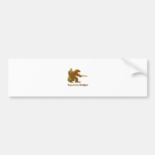 Sasquatch + Honey Badger + Love = Squatchy Badger Bumper Stickers