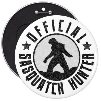 Sasquatch HUNTER Circle logo Black Buttons