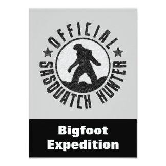 Sasquatch Hunter Funny Invitation to find Bigfoot