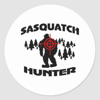 Sasquatch Hunter Round Sticker