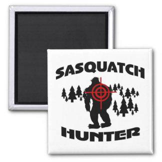Sasquatch Hunter Square Magnet