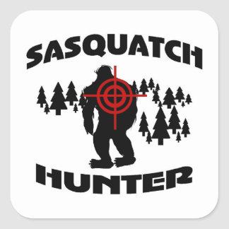 Sasquatch Hunter Square Sticker
