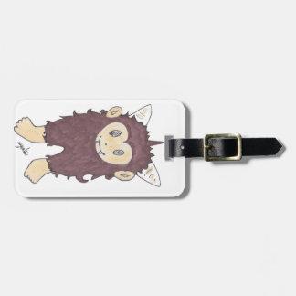sasquatch luggage tag