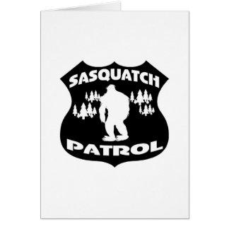 Sasquatch Patrol Forest Badge Greeting Cards