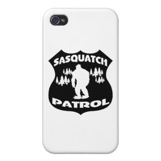 Sasquatch Patrol Forest Badge Cases For iPhone 4