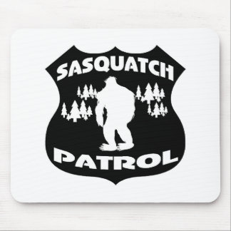 Sasquatch Patrol Forest Badge Mousepads