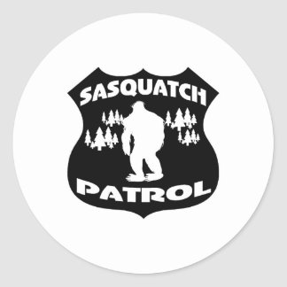 Sasquatch Patrol Forest Badge Round Sticker