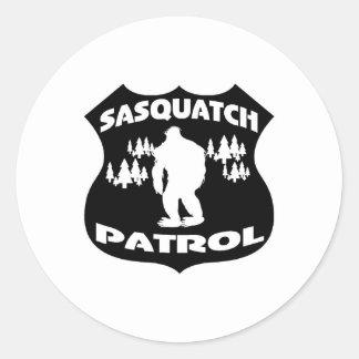 Sasquatch Patrol Forest Badge Round Sticker