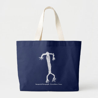 Sasquatch Pictograph Large Tote Bag