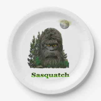 Sasquatch products paper plate